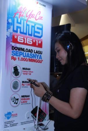 Telkomsel Hadirkan Full Track Download Lagu Sepuasnya