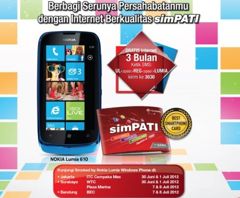 SimPATI dan Nokia Lumia 610