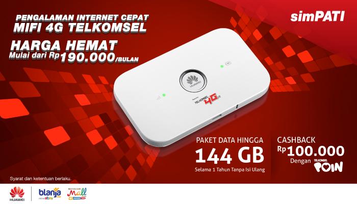 Info Lengkap Paket Bundling MIFI 4G Telkomsel