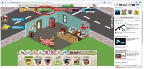 Pilih game Cafeland (contoh) di Facebook