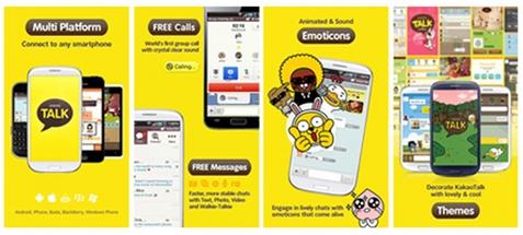 KakaoTalk , Kakao Story , dan banyak aplikasi game Kakao bisa di akses ...