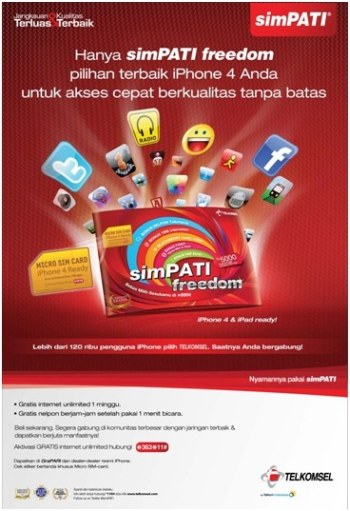 simPATI micro sim card iPhone iPad