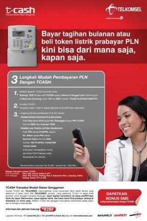 pembayaran PLN dengan TCASH