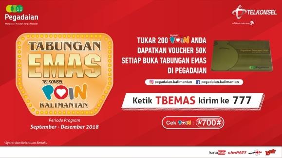 Tabungan Emas Telkomsel POIN - Kalimantan   Telkomsel