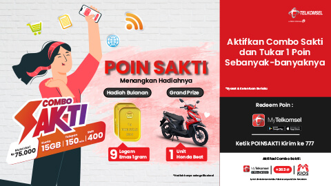Combo Sakti Promo Win A Honda Beat Or 9 Gram Gold Telkomsel