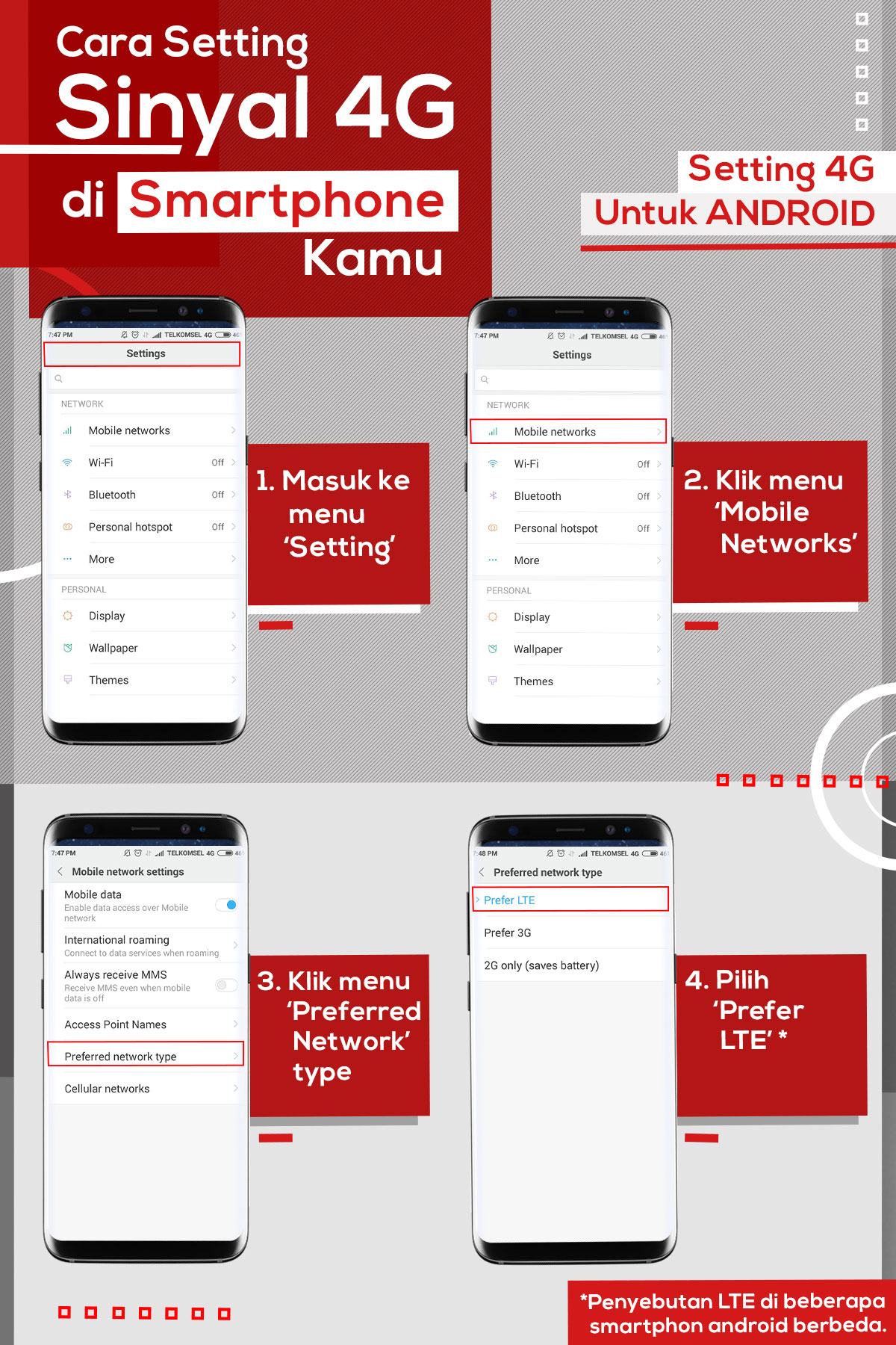 How To Easily Setup Smartphone To 4G | Telkomsel