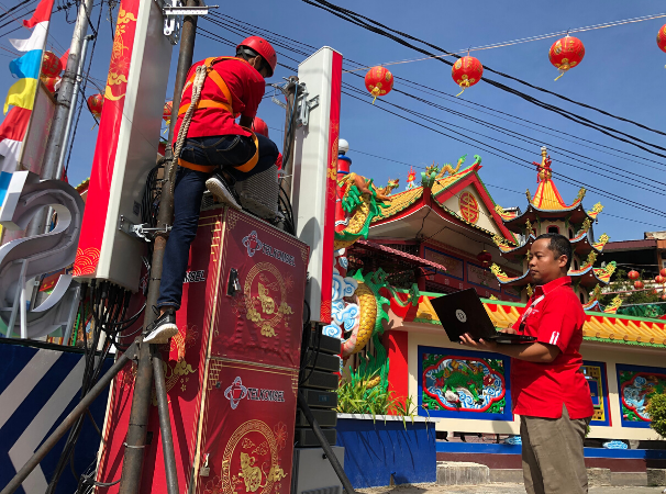 Support the Government to Accelerate Indonesia's Tourism, Telkomsel's 4.9G Network Guards the 2020 Cap Go Meh Festival in Singkawang