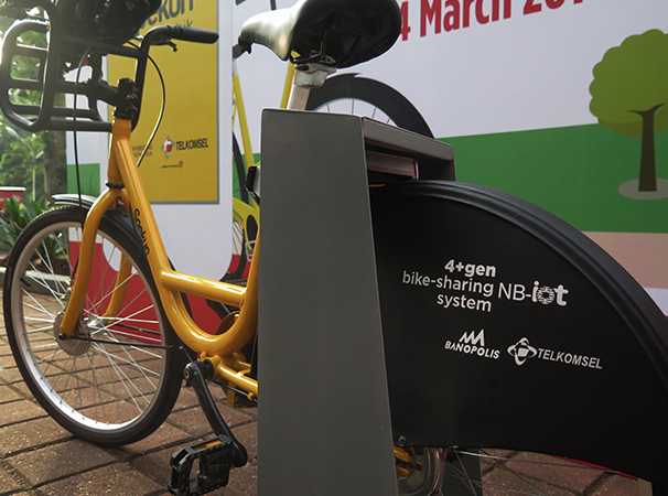 Telkomsel dan UI Implementasikan Inovasi NB-IoT Bike Sharing