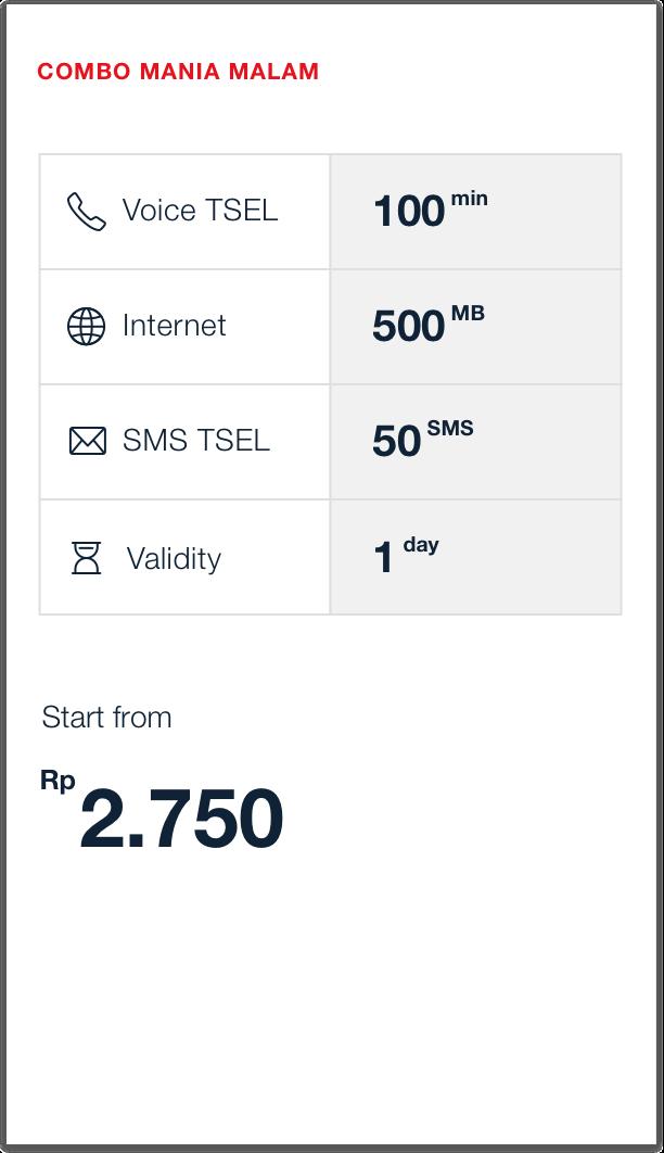 Combo Mania Telkomsel